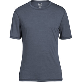 super.natural M's 140 Base Tee Quiet Shade Melange